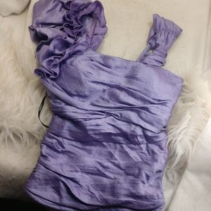 Authentic purple Bebe shirt size XS